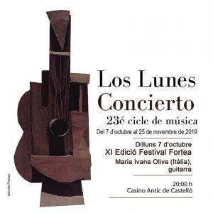Cartel concierto lunes 7 oct
