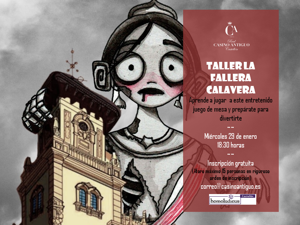 Cartel Taller Fallera Calavera