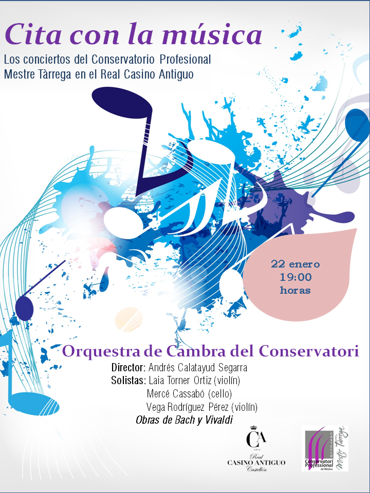 Cartel orquesta camara conservatorio profesional musica