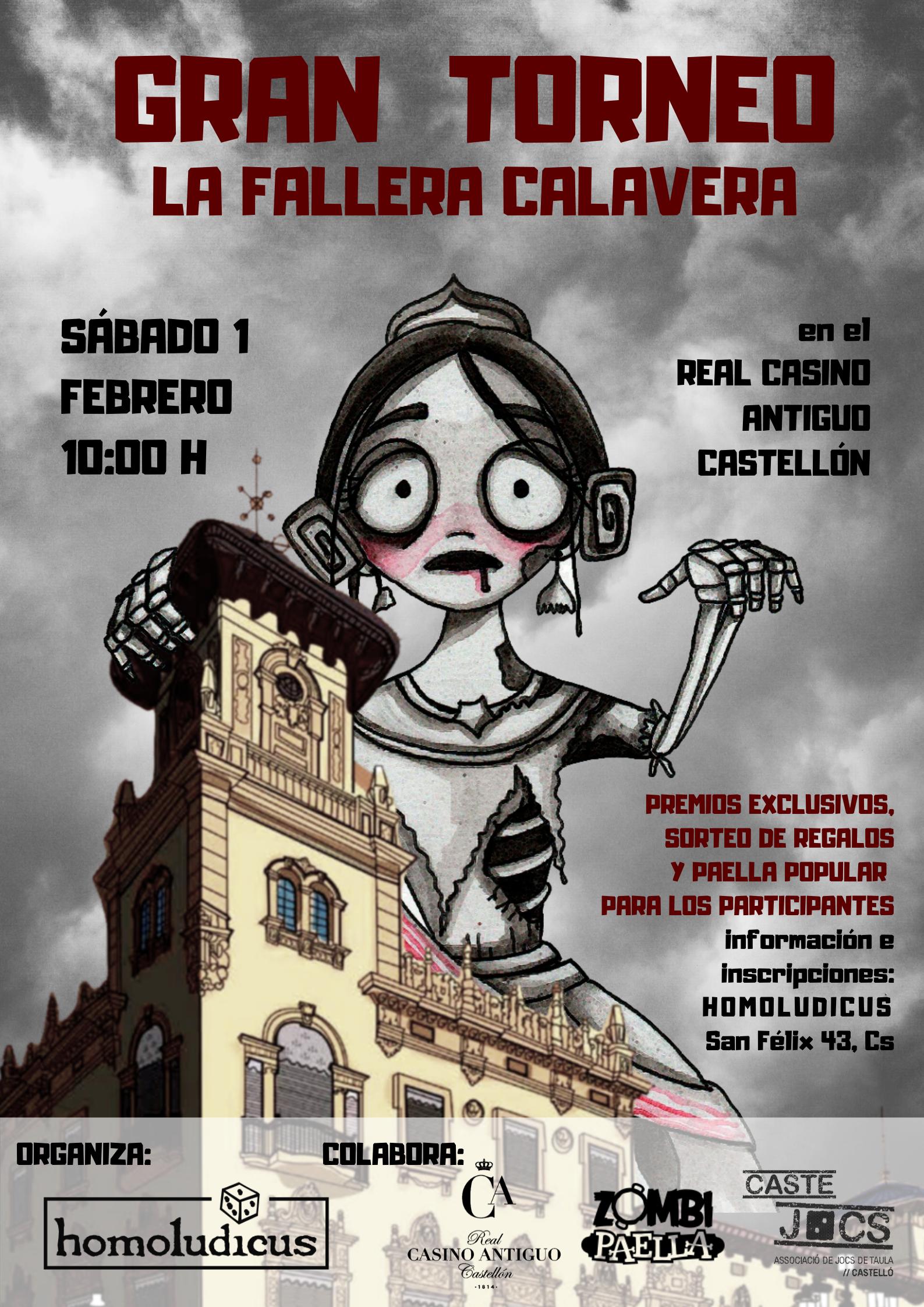 Fallera calavera Casino Antiguo Castellón