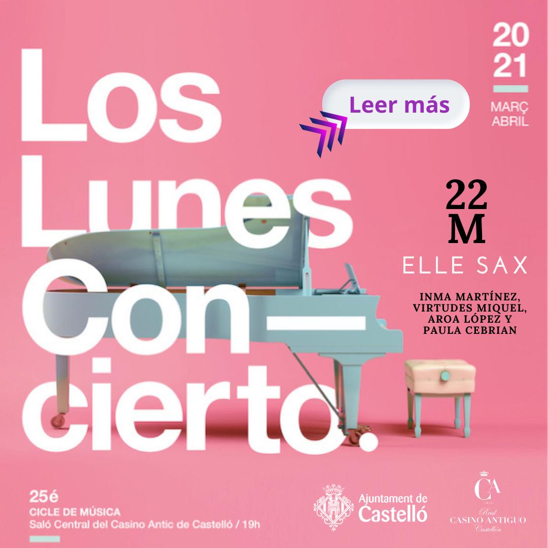 Real Casino Antiguo-Los lunes concierto-Elle sax